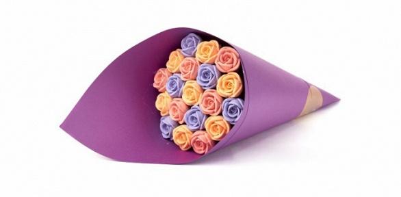 Букет роз избельгийского шоколада