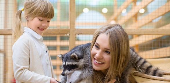 Посещение контактного зоопарка «Мир животных»