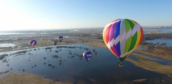 Полет навоздушном шаре свручением грамоты отклуба «Три короля»
