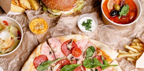 Пиццы, салаты, бургеры ипасты отпиццерии «Джусто Густо» заполцены