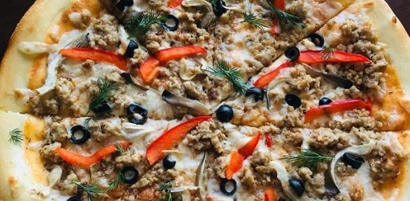 Пицца-сет или wok-сет откафе доставки «Берегите пальчики»