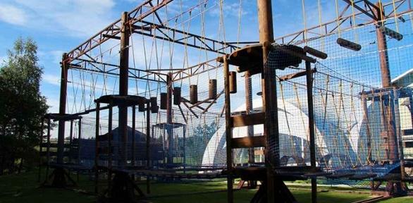 Посещение веревочного парка вкомплексе «Петрухино-клуб»