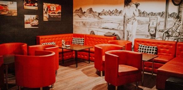 Всё меню, напитки ипаровые коктейли вLounge Bar Route 66заполцены
