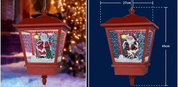 Рождественские фонарики с25мелодиями иснегом