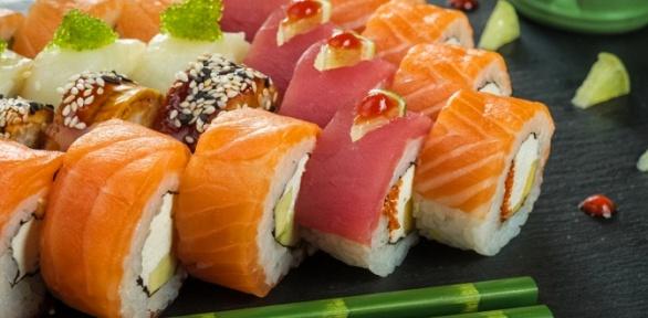 Суши-сет навыбор отслужбы доставки «Токайдо» заполцены