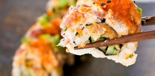 Всё меню отслужбы доставки «Хочу суши» заполцены
