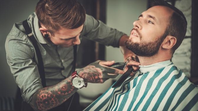 Скидка до 51%. Мужская или детская стрижка, моделирование бороды вбарбершопе «Налево»