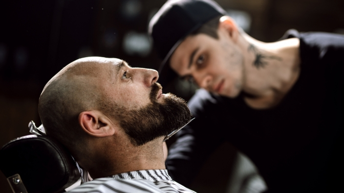 Скидка до 50%. Мужская стрижка, коррекция бороды либо бритье вбарбершопе Legion